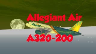 ROBLOX || Allegiant Air A320-200 Flight! (Working)