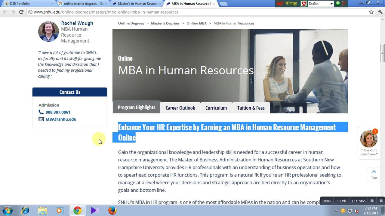 Online mba in human resources youtube online mba in human resources xflitez Choice Image