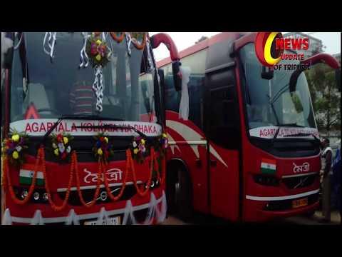 Agartala to Kolkata via Dhaka 2nd Volvo Bus Service from TRTC on 12th January, 2018
