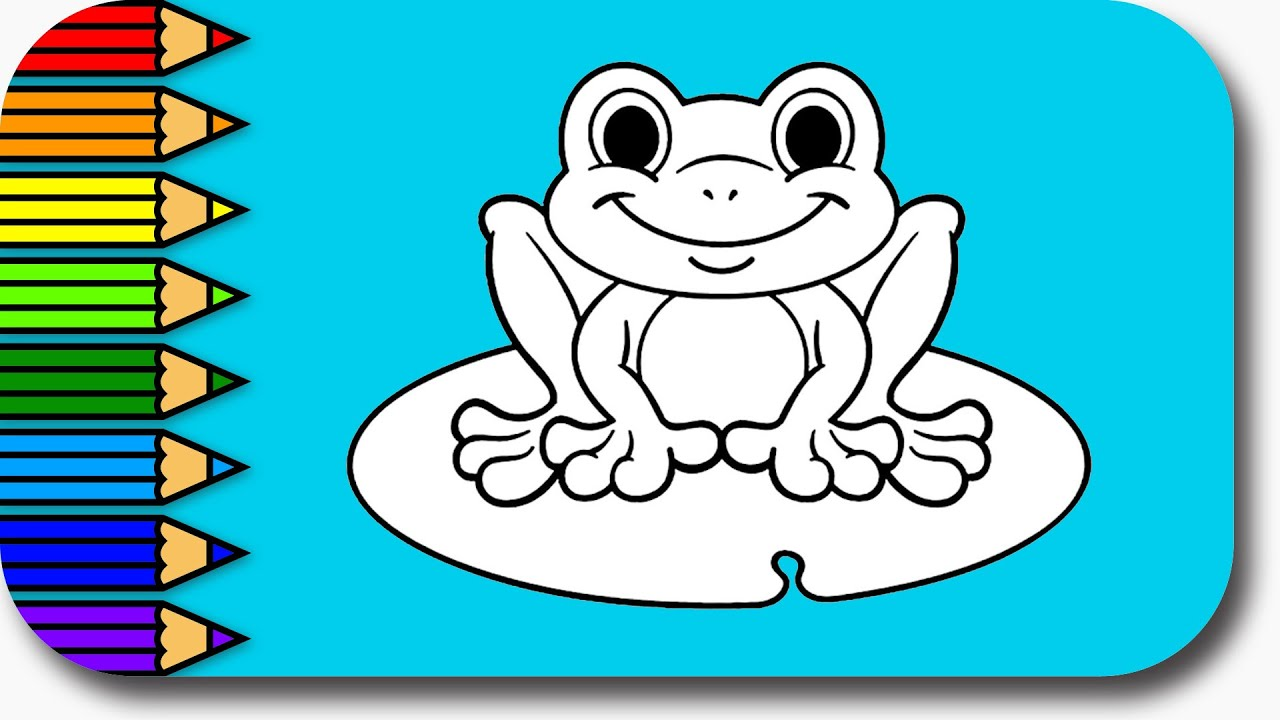 How to Draw and Color Crazy Frog For kids - Learn Colors ...