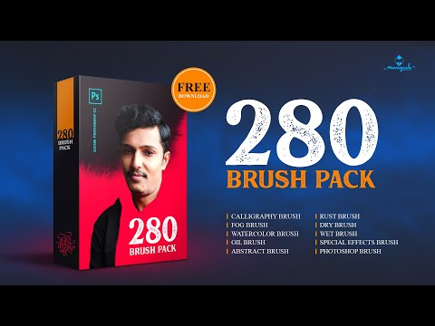 Free Download & Install 280 Brush Pack In Adobe Photoshop CC
