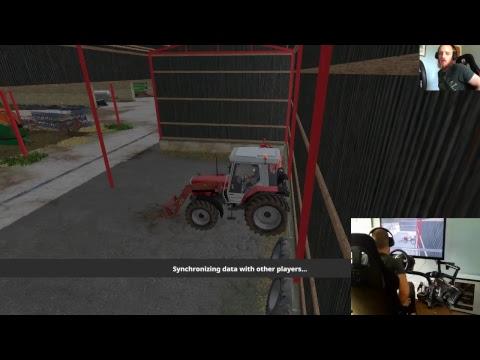 farming simulator 2017 dowland farm on the sever :) live stream E7 part 2