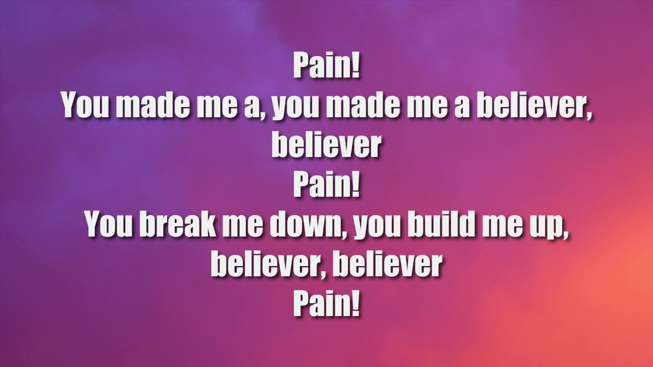Imagine Dragons - Believer (Lyrics) - YouTube