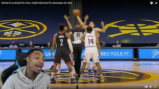 FlightReacts ROCKETS at NUGGETS | FULL GAME HIGHLIGHTS | December 28, 2020!