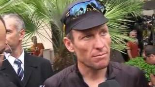 Tour de France 2009 Prologue Lance Armstrong Interview