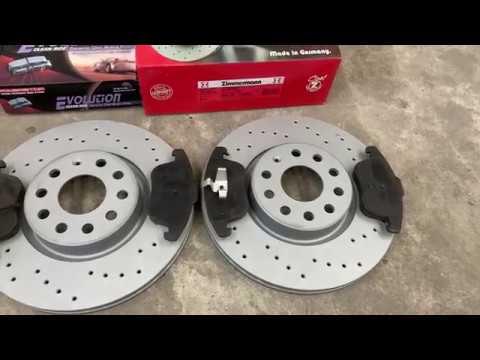 Замена тормозных дисков и колодок на PASSAT B7