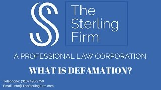WHAT IS DEFAMATION?
