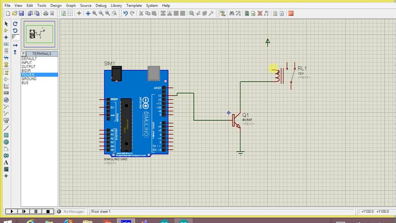 Relay Simulation With Arduino In Proteus Youtube Spst Reed 5vdc Coil