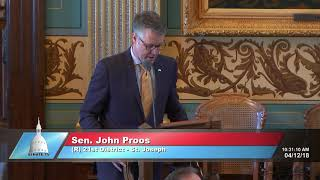 Sen. John Proos honors veteran of World War II, Korea and Vietnam