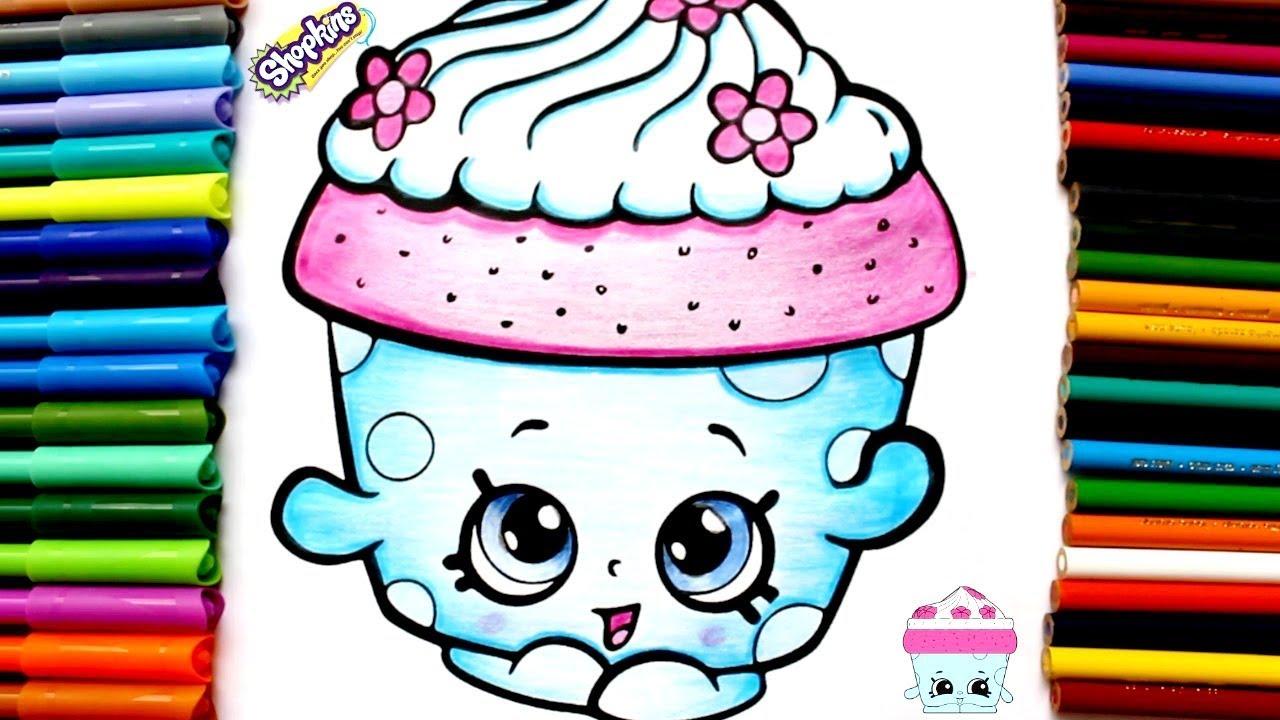 Colorea Shopkins Cupcake Petal/Aprende a colorear/Dibujos Para Niños ...