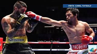 Manny Pacquiao es campeón mundial de boxeo tras derrotar a Lucas Matthysse