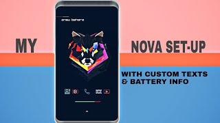 My Home Screen Set Up Tutorial - Dark Nova launcher SETUP in Hindi