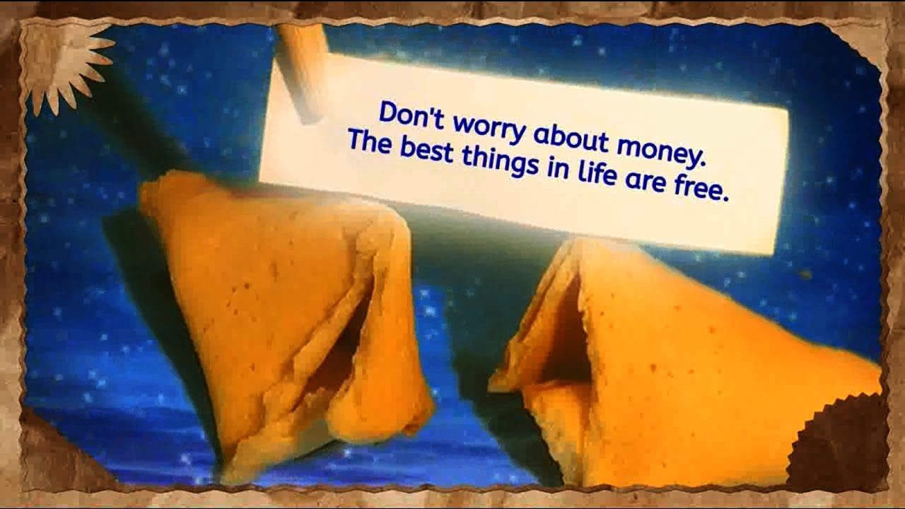 Virtual Fortune Cookie Quotes Dont Worry About Money Youtube