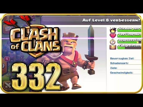 Let's Play CLASH Of CLANS Part 332: BOMBENTURM Bauen & Barbarenkönig Level 8
