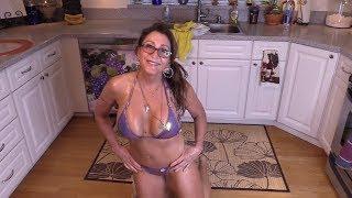 Bikini MILF Mom 55 - Floor Washing #2