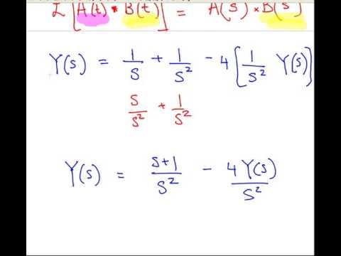 Laplace Transforms - Solving Integral Equations