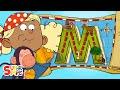 "Alphabet Cartoon - The ABC Pirates have a Magical Adventure on ""M"" Island"