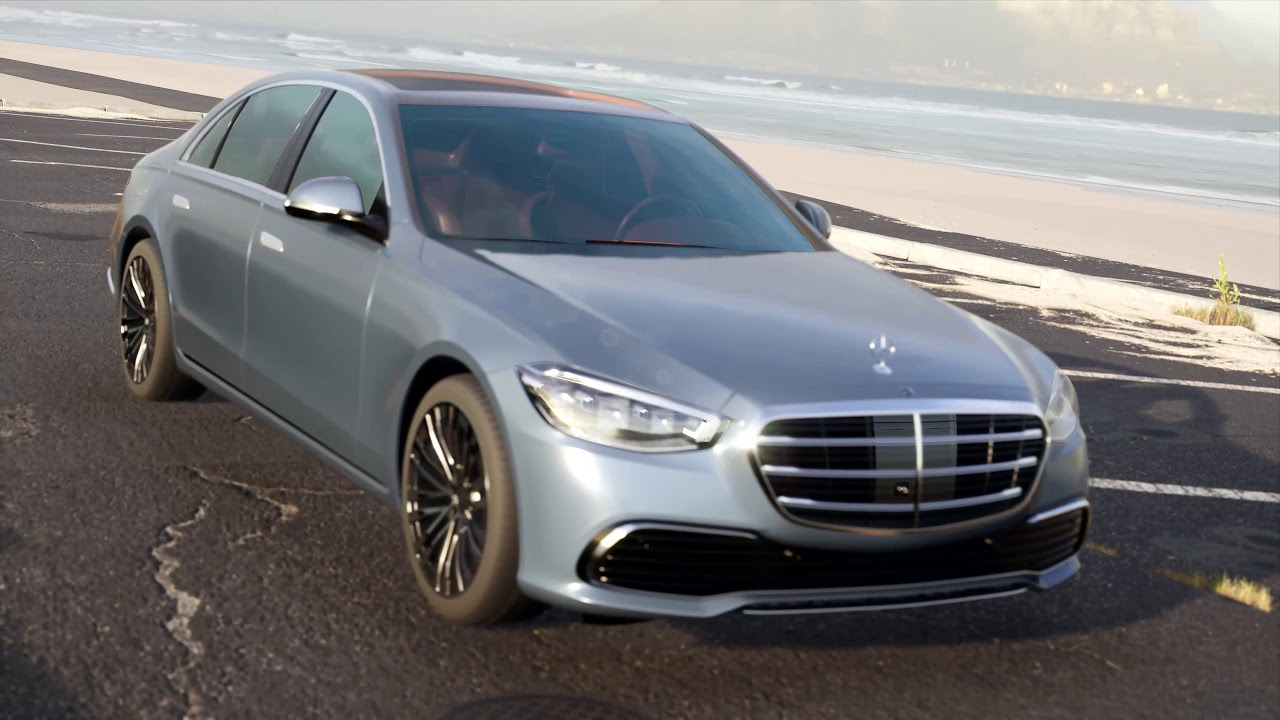 Mercedes Benz S Class 2021 3D model in Unreal Engine
