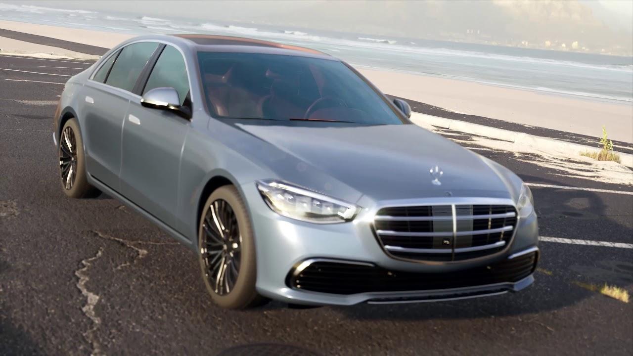 Mercedes Benz S Class 2021 3D model in Unreal Engine