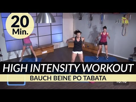 Hiit Bauch Beine Po Tabata Workout I 20 Min. I High Intensity BBP