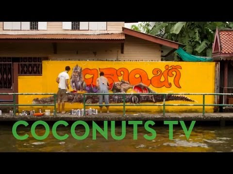 Art Coco: Painting Crocodiles on Canals in Bangkok