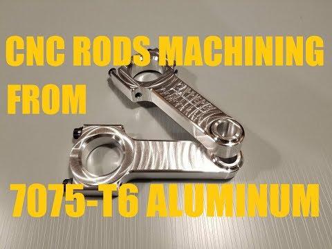 CNC Machining of Billet Aluminum 7075 Connecting Rod! Part 1 of 2