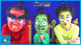 앵그리버드 분장 싱크로율 120% 되다! 앵그리버드 더 무비 실사판 Angry birds movie Face Paint Makeup | 말이야와친구들 MariAndFriends
