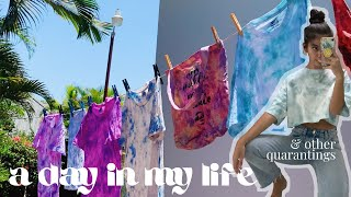a day in my life vlog - tie-dye, baking & other quarantings