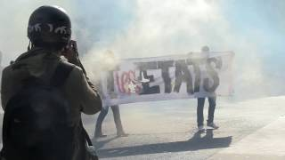Loi Travail : quelques violences en fin de manifestation (21 septembre 2017, Paris)
