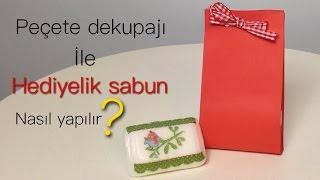 DIY-PEÇETE DEKUPAJI İLE HEDİYELİK SABUN NASIL YAPILIR?-DECOUPAGE ON SOAP