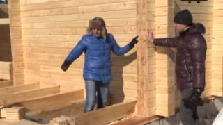 Дом из бруса - Стройка 32(Можно ли построить дом без единого гвоздя? Да! В программе эксперт компании Сибирские деревянные дома Алек..., 2014-02-03T11:10:49.000Z)
