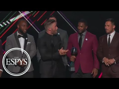Julian Edelman Takes Dig At Peyton Manning During Patriots' Best Game Speech | The ESPYS | ESPN