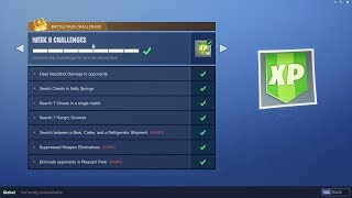 WEEK 8 CHALLENGES LEAKED! | Early Guide! | Fortnite Battle Royale
