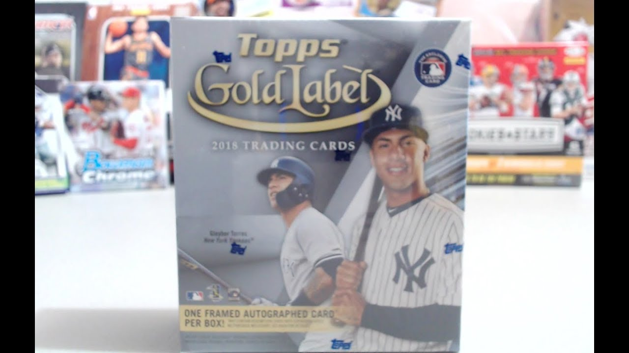 2018 Topps Gold Label Hobby Box 1 2 Hits