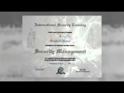 Security Management Course Online Training - 1