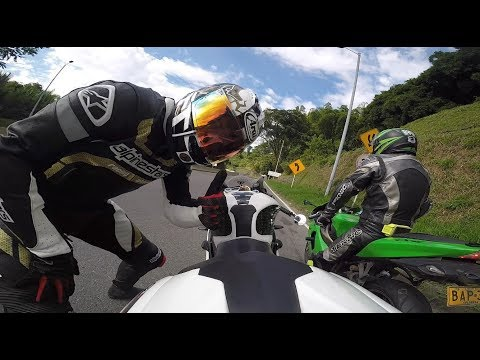 Triumph Daytona R y Kawasaki Ninja ZXR     Cornering Bikers Pereira