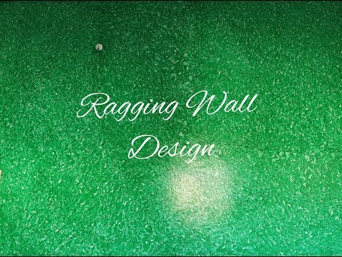 Asian Paint Royale Play Non Metallic Green Ragging Wall Design video 2