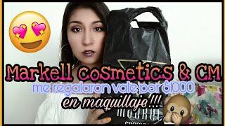 Lo que obtuve por el vale de $1000 en maquillaje   Reinaguración Markell Cosmetics
