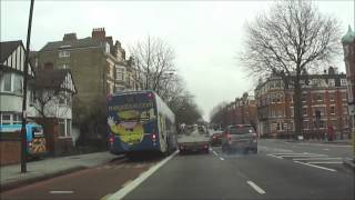 Car drive from Ealing Road, Wembley to Camden, London - 11th April 2013