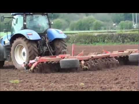 cultivating the maize field ready for drilling
