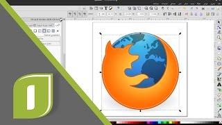 Inkscape: 10.  لنبدأ دراسة تصميم الأيقونات ببرنامج إنكسكيب