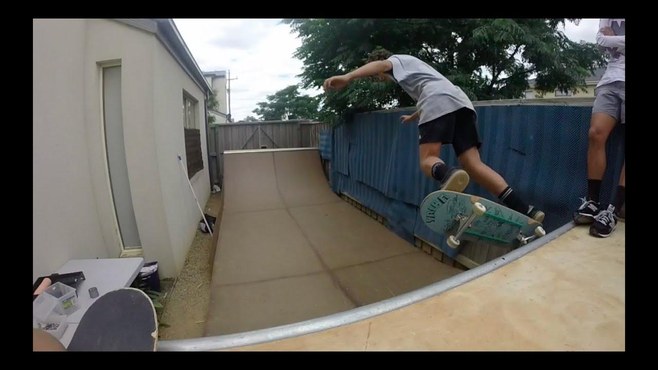 Our Backyard Halfpipe - YouTube