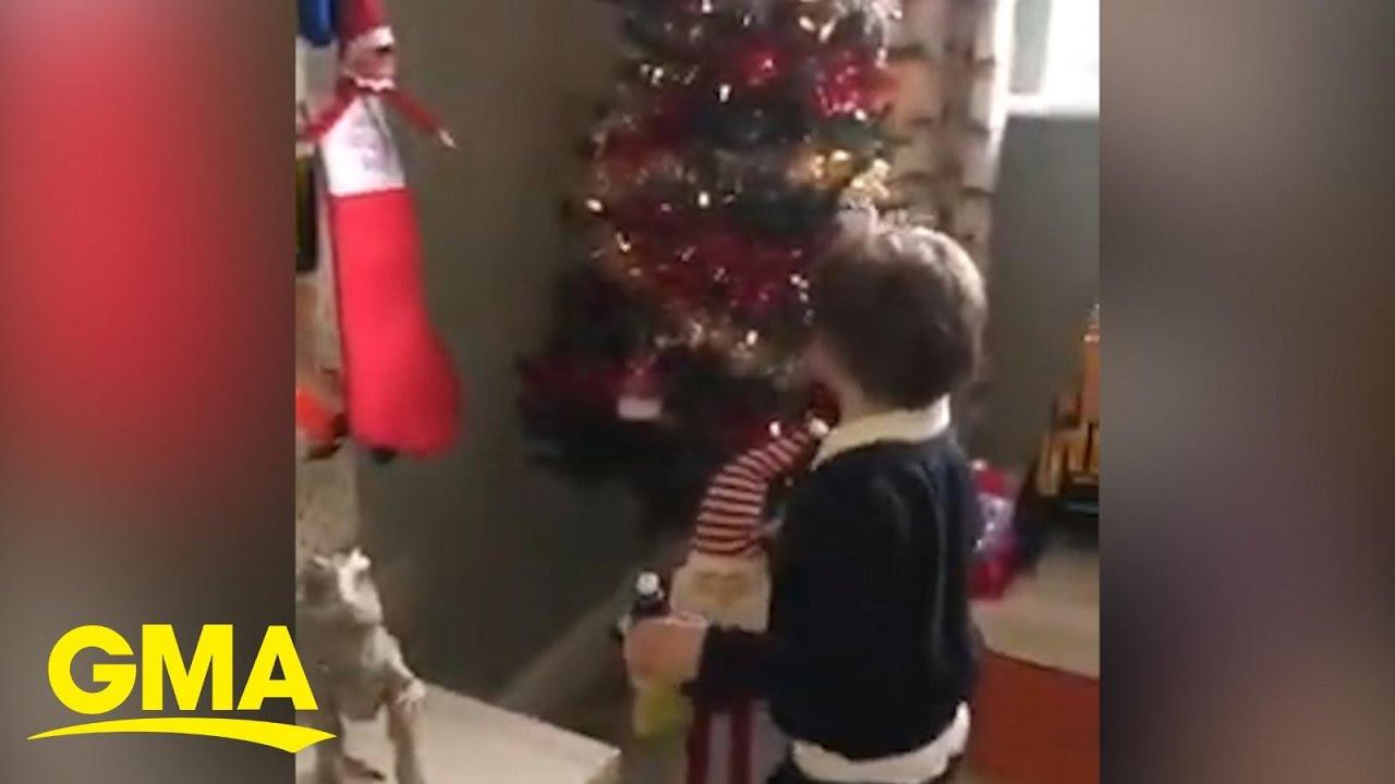Mom creates a custom Christmas winter wonderland for her son