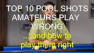 Top 10 Pool Shots Amateurs Play Wrong … and How to Play Them Right
