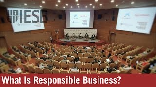 What Is Responsible Business? Doing Good and Doing Well