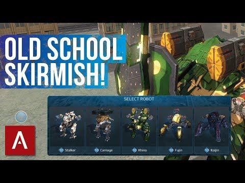 War Robots Gameplay: New Skirmish Hangar with Old School Robots!