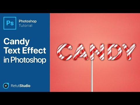 Photoshop Tutorial - Create a Glossy Candy Text Effect