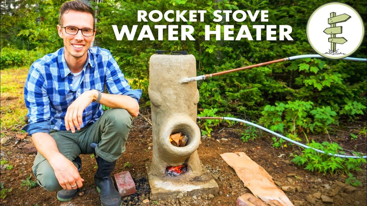 Brilliant Diy Off Grid Water Heater Using A Rocket Stove