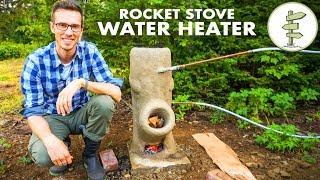 Geniale DIY-Off-Grid-Wasser-Heizung Mit einer Rakete Herd – Kein Propan!