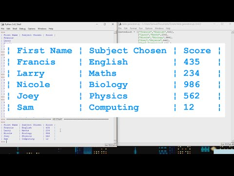 Python Tutorial - How to make Text-Based Tables